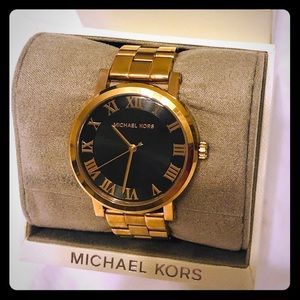 New rose Gold Michael Kors women'Watch with box